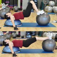 Tres tipos de contracciones en un solo ejercicio de abdominales