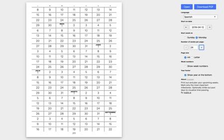 Window Y Calendar Generator