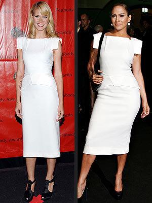 Vestido de Roland Mouret ¿Jennifer Lopez o Heidi Klum?