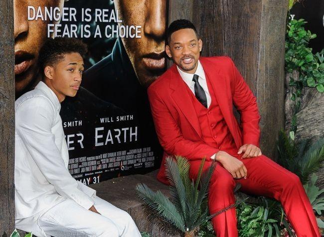 Will Smith y su hijo Jaden en la premiere de After Earth