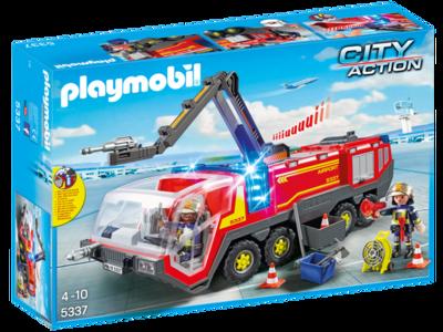 Camión de bomberos del aeropuerto de Playmobil rebajado en Amazon a 52,52 euros con envío gratis