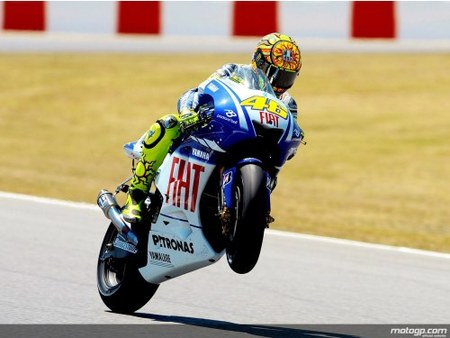 Valentino Rossi borda el GP de Catalunya