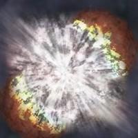 La explosión de una estrella causa una luminosidad extraordinaria