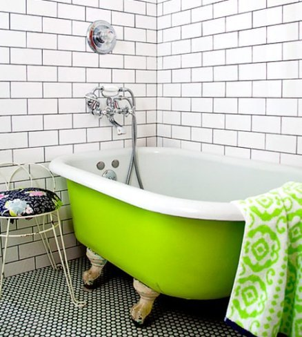 bañera-verde