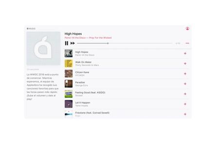Apple Music ya permite escuchar canciones completas en el navegador gracias a su reproductor web
