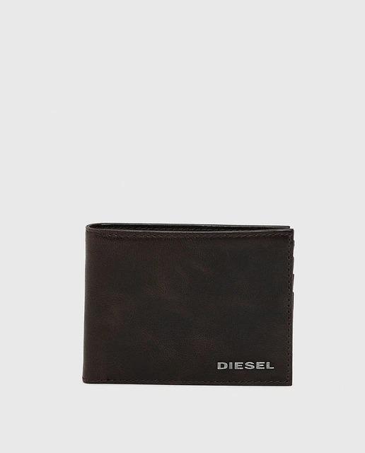 Cartera de hombre Diesel de piel vintage en marrón