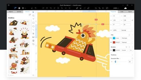 Lunacy es un excelente editor de gráficos para Windows fácil de usar, gratis y con muchos recursos de diseño integrados