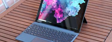 Microsoft Surface Pro 6 con Core i5-8250U, 8GB RAM y SSD de 256GB de oferta en PcComponentes: 1.149 euros