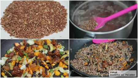 arroz guarnición sin gluten con verduras