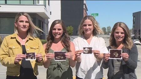 Estas cuatro hermanas están embarazadas a la vez y darán a luz con pocos meses de diferencia