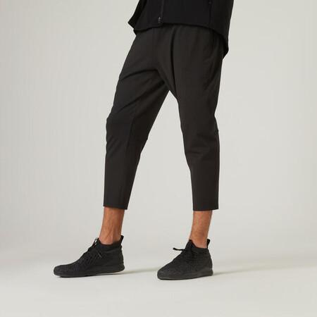 Pantalon Jogger 7 8 Fitness Skinny Stretch Negro