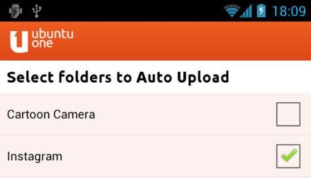 Ubuntu One Files para Android con soporte para Instagram
