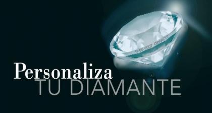 Graba en un diamante tu mensaje o dedicatoria al láser
