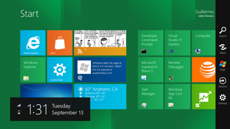 Charms en Windows 8