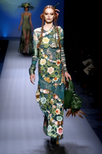 Jean Paul Gaultier Alta Costura Primavera-Verano 2010. Flores