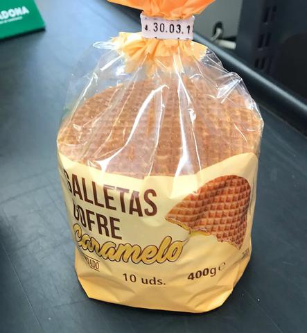 Galletas cofre sabor caramelo