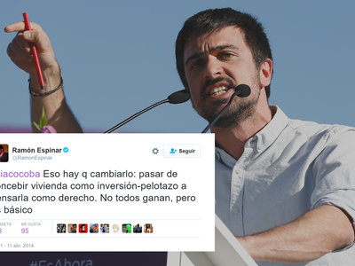 Todos los tuits de Ramón Espinar sobre vivienda y jóvenes con los que hoy se ha hecho un autozasca