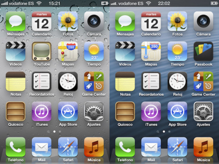 iOS 5 vs. iOS 6 en capturas