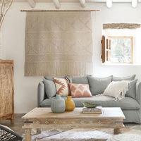 El arte textil o colgar piezas textiles en las paredes es una de las tendencias que más sube, según Pinterest