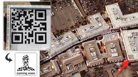 La imagen de la semana: el código QR en el tejado de Facebook