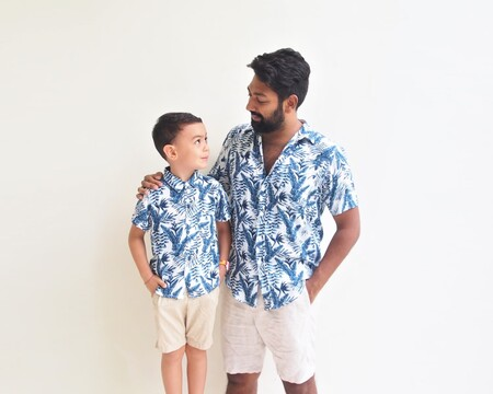 Estas camisetas y camisas que encuentras en H&M son perfectas para hacer match con tu hijo o tus sobris este verano