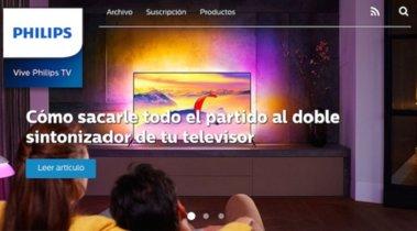 Vive Philips TV, un nuevo site para aficionados a la tecnología y la televisión