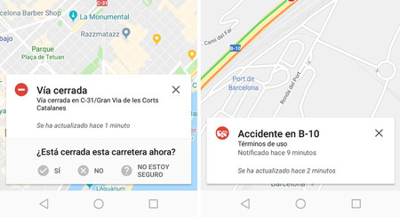 Example Maps Waze Incidente