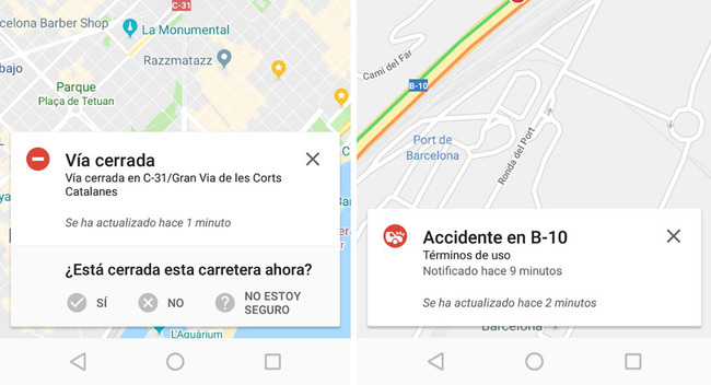 Example Maps Waze Incident