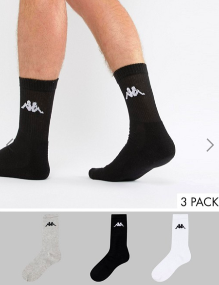 Debería taquigrafía calidad  Pack de 3 calcetines Kappa por 8,49 euros y envío gratis en las rebajas de  Asos