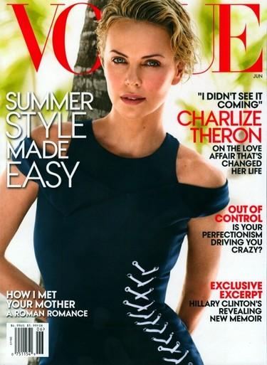 Charlize Theron ha necesitado una Vogue para hablar abiertamente de lo suyo con Sean Penn