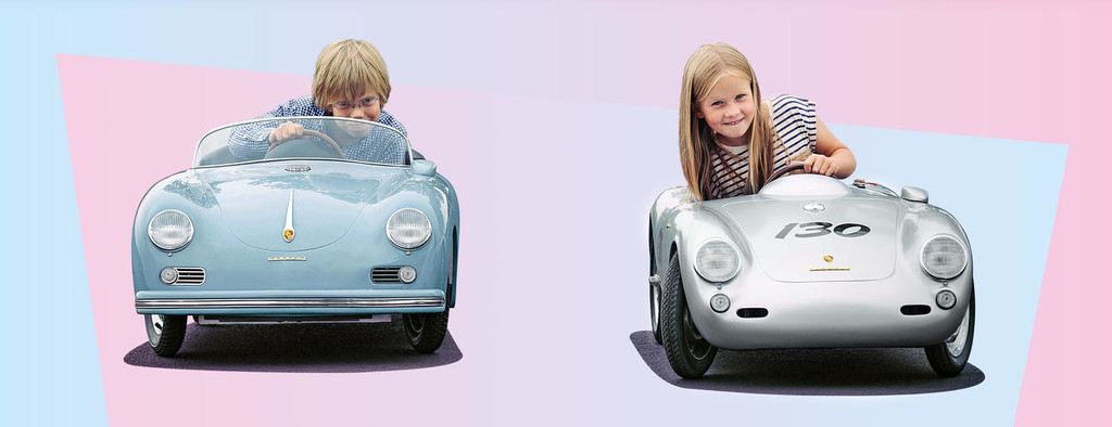 Regalos originales para amantes de los coches Bernd Pennewitz Porsche 550 Spyder y 356 réplica