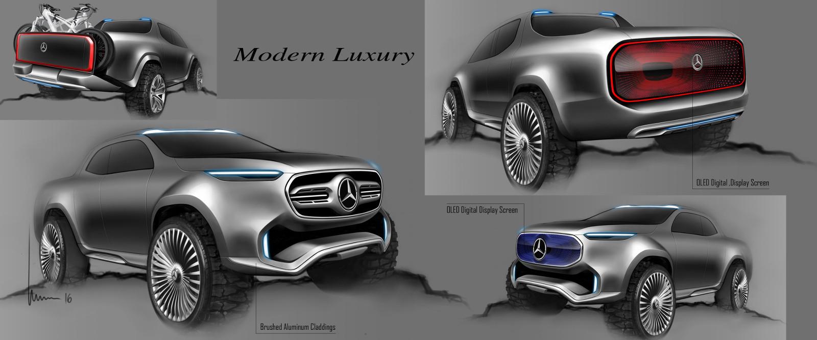 Foto de Mercedes-Benz Concept Clase X - bocetos (1/7)