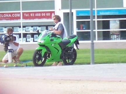 Fotos espia en Barcelona de un nuevo modelo de Kawasaki