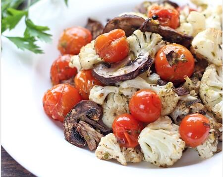 Verduras asadas a la italiana. Receta fácil y saludable