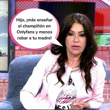 """Maite Galdeano acusa en 'Domingo Deluxe' a su hijo, Cristian Suescun, de robarle: """"Se está marcando un Kiko Rivera"""""""