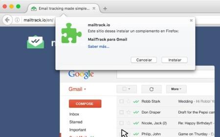 MailTrack en Firefox