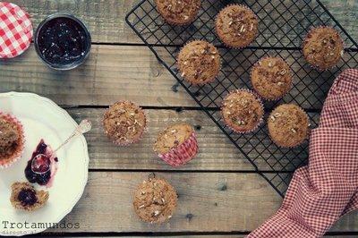 Muffins integrales. Receta