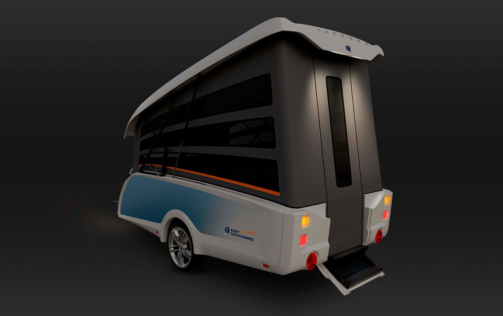 Carro-caravana TakeOff de Easy Caravanning