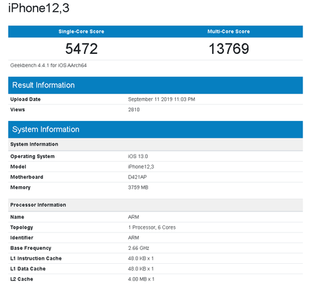 Iphone 11 Pro Benchmark