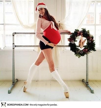 Bailarina embarazada de 9 meses y sigue bailando