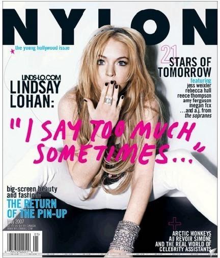 Lindsay Lohan en la revista Nylon
