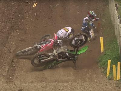 Cuando el motocross se pone duro… 10 minutos de vídeo con todas las caídas del MXGP 2017
