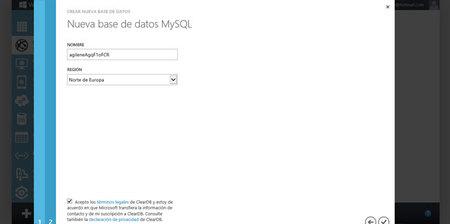 Hablando de Azure, configuración MySQL