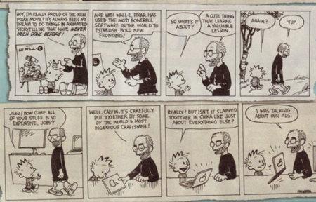 Imagen de la semana: Calvin y <strike>hobbes</strike> Steve Jobs