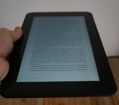 Leyendo libro con Kindle Fire HD