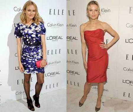 Diane Kruger  y las chicas de portada en la fiesta de Elle Women in Hollywood 2009