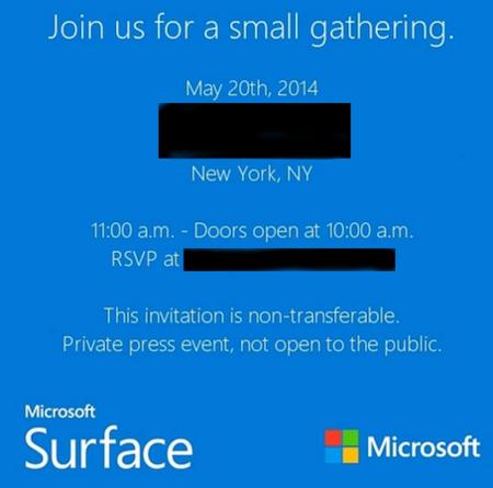 """Microsoft anuncia """"pequeño evento"""" sobre Surface el 20 de mayo"""