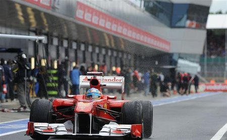 GP de Gran Bretaña F1 2011: Fernando Alonso saldrá tercero en Silverstone