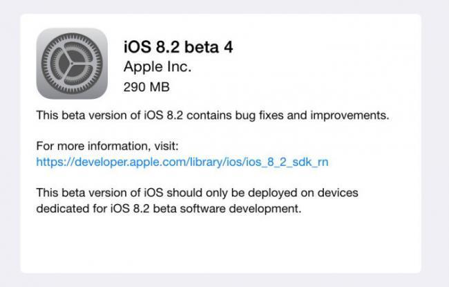 Apple distribuye la cuarta beta de iOS 8.2 mientras empieza a probar iOS 9 internamente