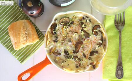 Lasaña de setas cocinada en sartén: receta fácil para disfrutar del plato italiano aunque seamos pocos